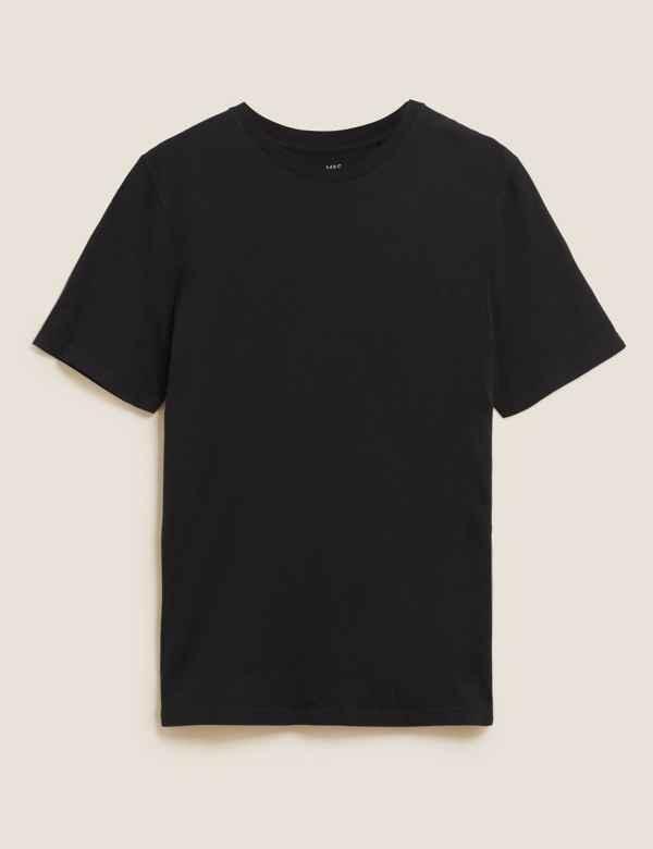 8c52e59d651 Slim Fit Pure Cotton Crew Neck T-Shirt