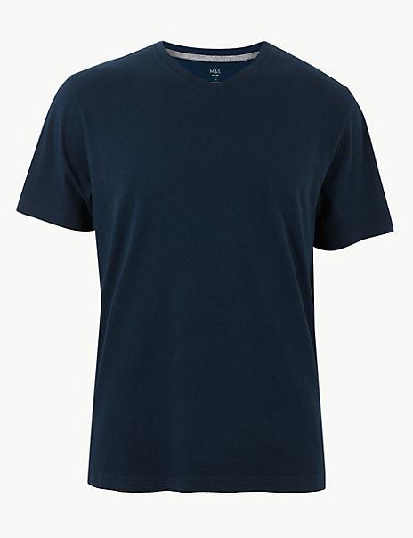 Cotton V-Neck T-Shirt