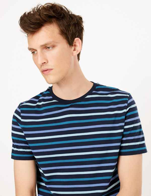 00c76819145b Slim Fit Cotton Striped T-Shirt. New. M&S Collection