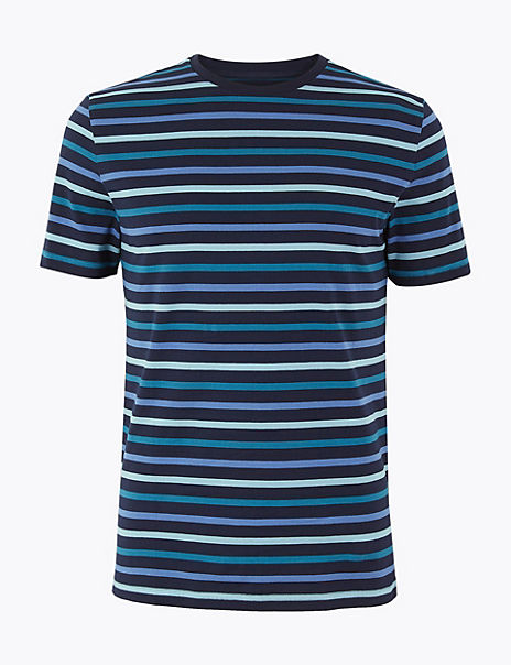 Slim Fit Cotton Striped T-Shirt