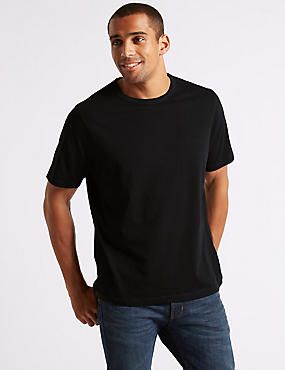 2 Pack Pure Cotton Crew Neck T-Shirts