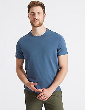 Slim Fit Pure Cotton Crew Neck T-Shirt