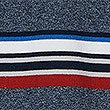 Pure Cotton Striped Polo Shirt, NAVY MIX, swatch
