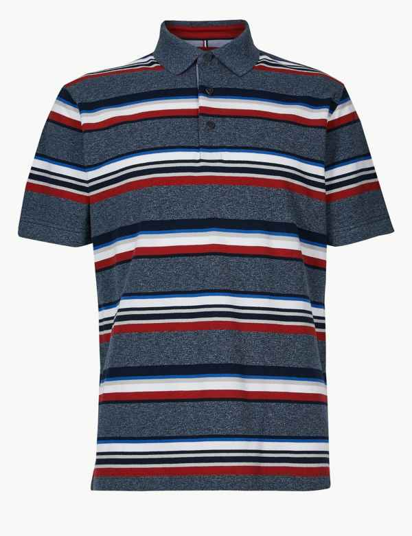 79aef874c4ae Pure Cotton Striped Polo Shirt. New Lower Price