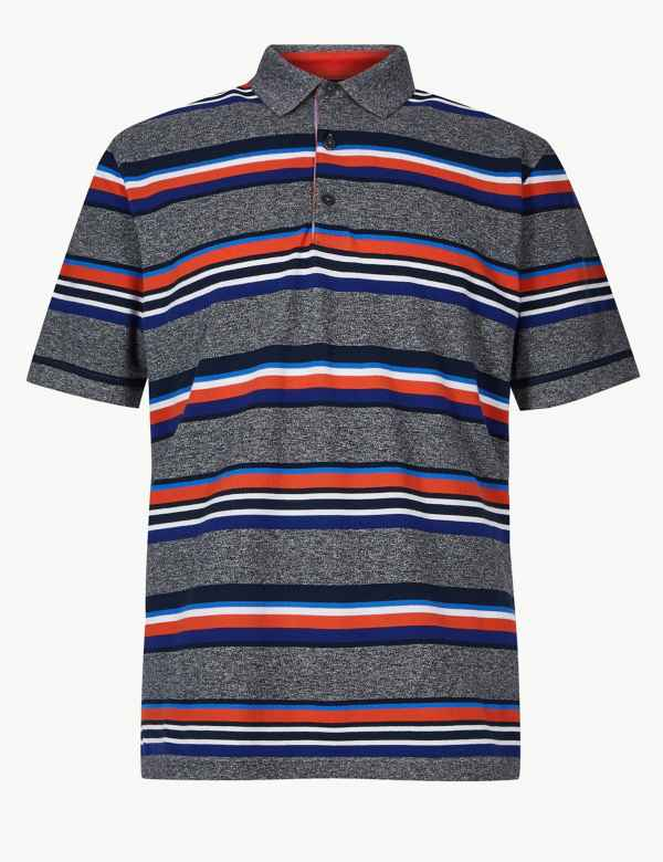 379fe9fdf5b Pure Cotton Striped Polo Shirt. New Lower Price