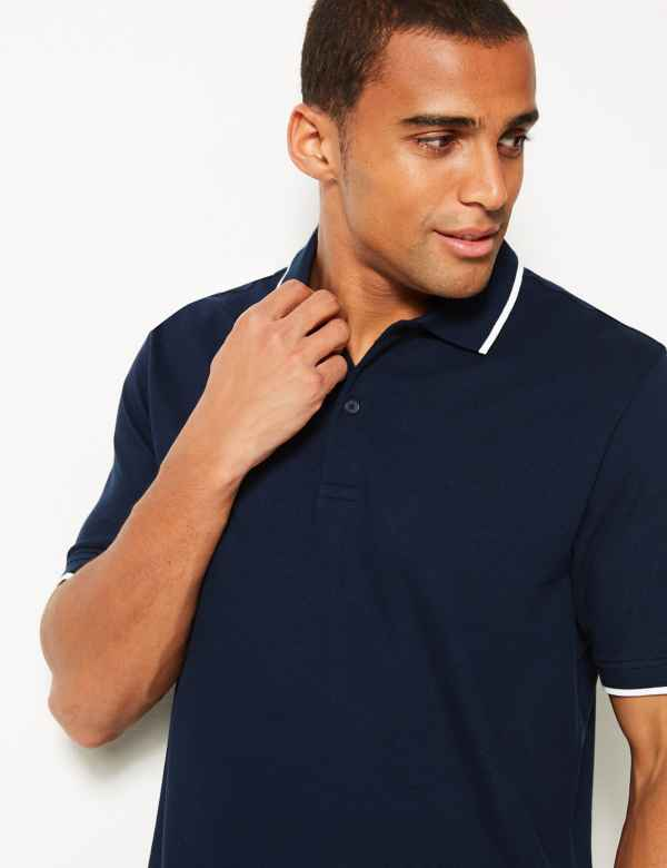 4db30044b Big & Tall Tops | Plus Size T-Shirts & Polos For Men | M&S