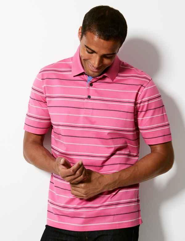 b8395009 Pure Cotton Striped Polo Shirt