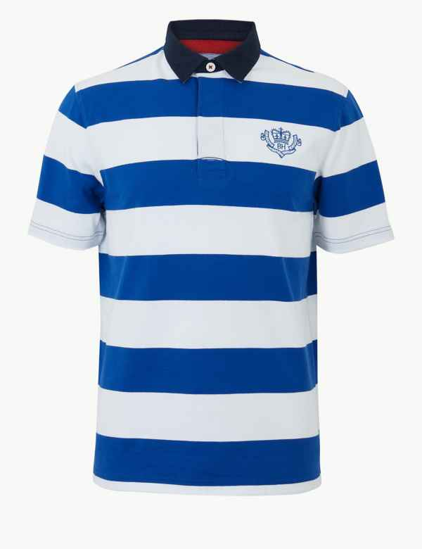 21e751aceca Mens Rugby Shirts & Tops | Long Sleeve Rugby Shirts | M&S