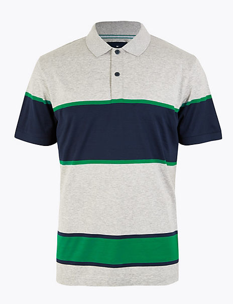 Cotton Striped Polo