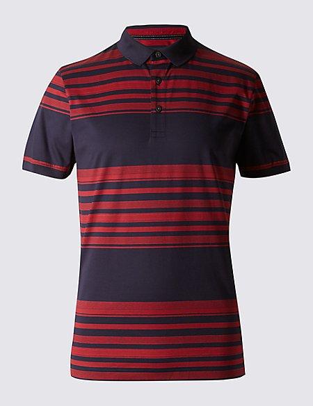 Slim Fit Mercerised Cotton Polo Shirt