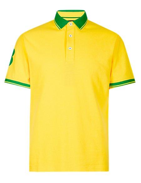 Pure Cotton Piqué Polo Shirt