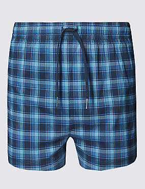Checked Quick Dry Swim Shorts