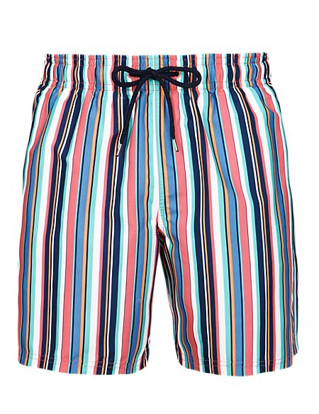 Quick Dry Striped Swim Shorts
