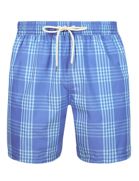 Checked Swim Shorts