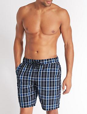 Checked Quick Dry Swim Shorts