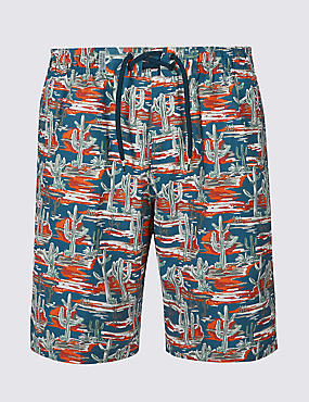 Cactus Print Quick Dry Swim Shorts