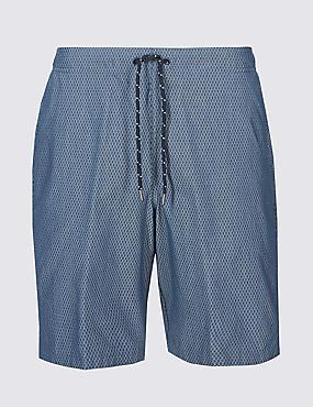 Cotton Rich Checked Quick Dry Swim Shorts
