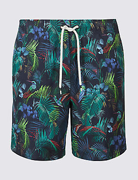Tropical Bird Quick Dry Swim Shorts