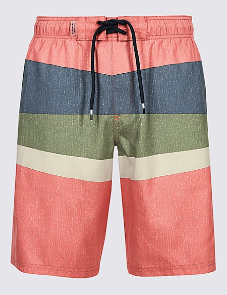 Striped Quick Dry Swim Shorts