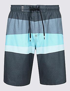 Striped Quick Dry Swim Shorts