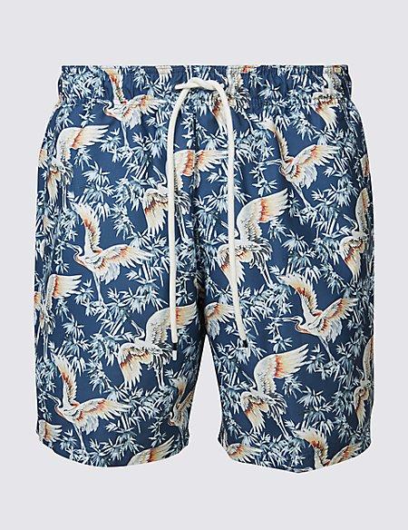 Stork Printed Quick Dry Swim Shorts