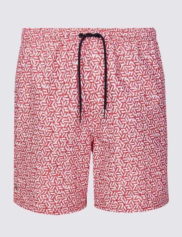 28e50f5024 Quick Dry Geometric Print Swim Shorts | M&S Collection | M&S