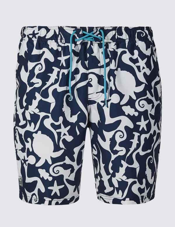 a96733fac3b Quick Dry Sea Creature Print Swim Shorts