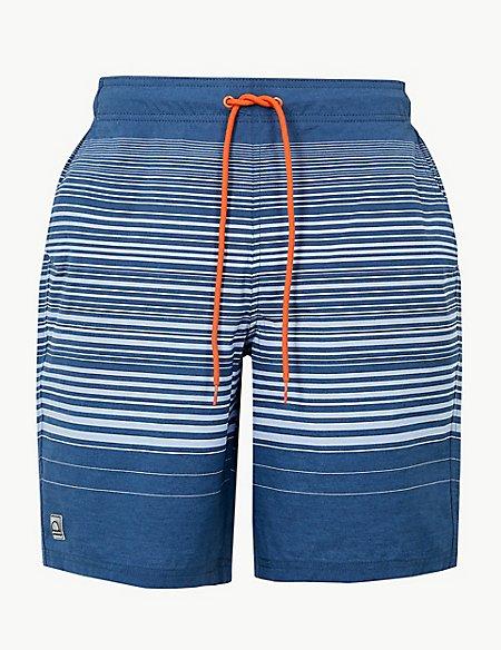 Quick Dry Striped Swim Shorts