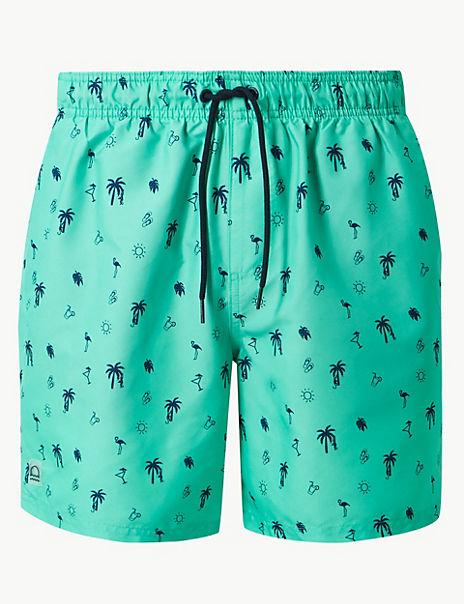 Quick Dry Beach Print Swim Shorts