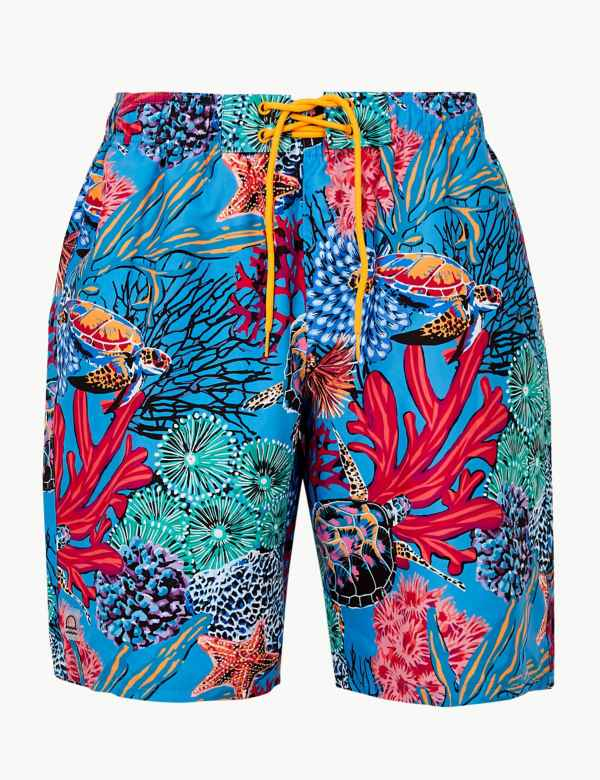 a0b7cf6716 Quick Dry Turtle Print Swim Shorts