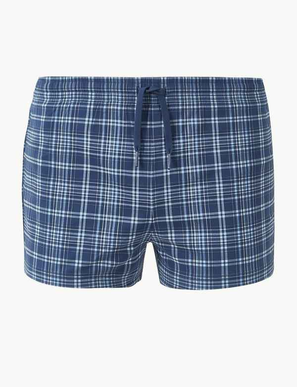 6eea43b6e0 Quick Dry Checked Swim Shorts. M&S Collection