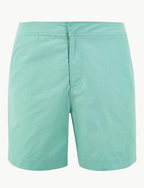 Quick Dry Cotton Rich Swim Shorts