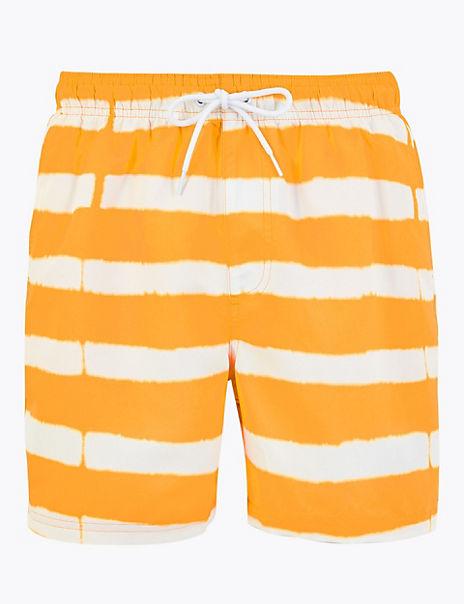 Quick Dry Tie Dye Stripe Swim Shorts