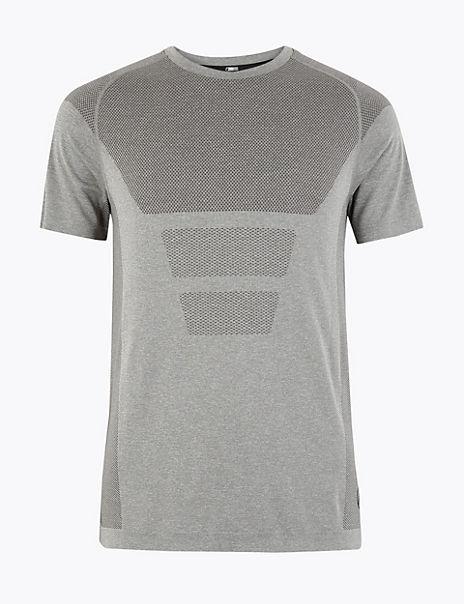 Active Reflective Trim Seam Free T-shirt