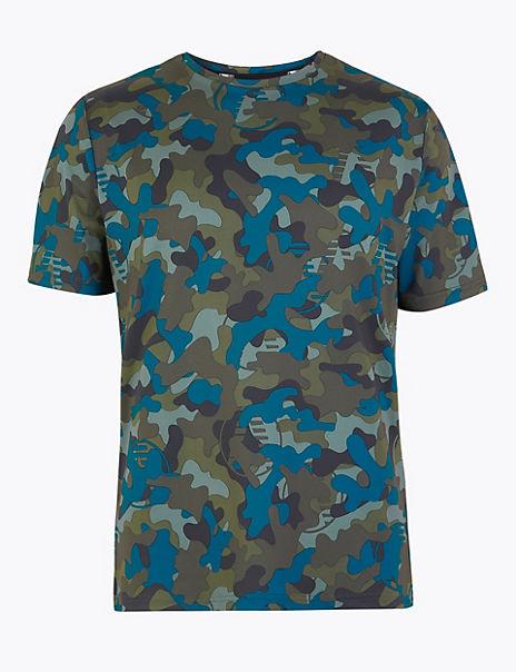 Active Camo Print T-Shirt