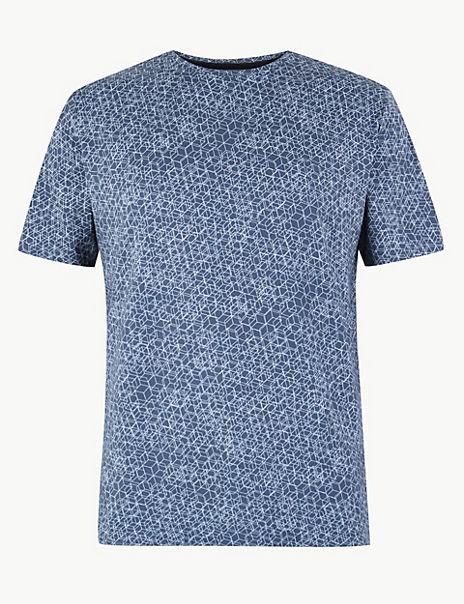 Active Geometric Print T-Shirt