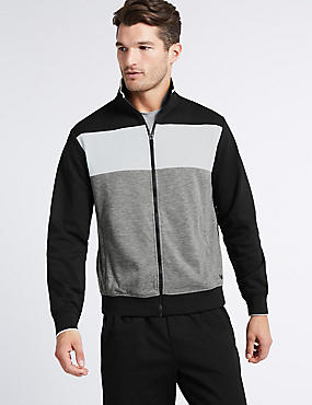 Active Colour Block Zip Top