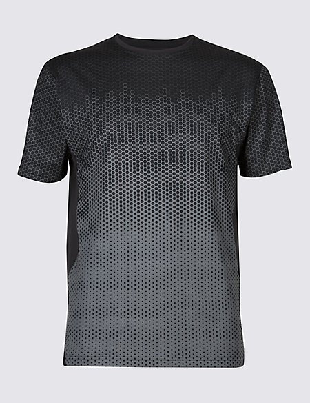 Active Quick Dry Printed T-Shirt