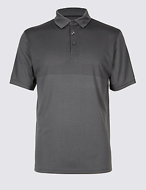 Active Polo Shirt with Stretch