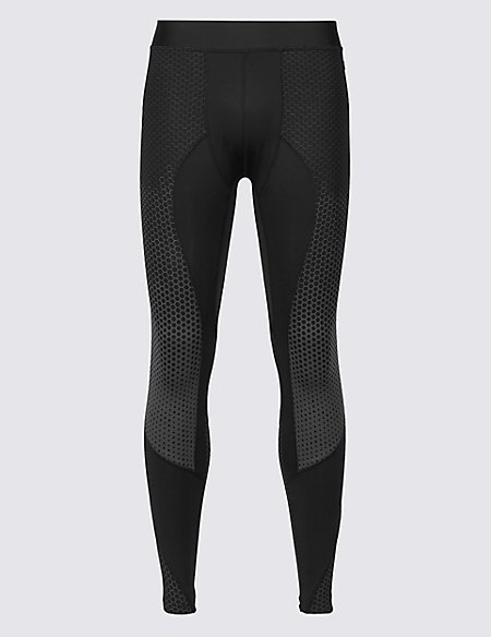Printed Quick Dry Leggings black mix Marks and Spencer