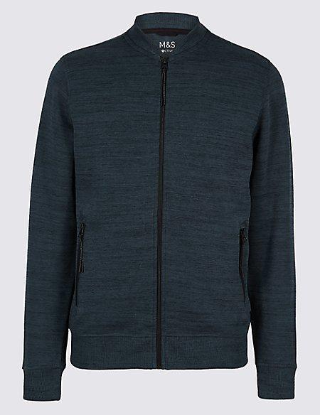 Cotton Rich Textured Sweatshirt
