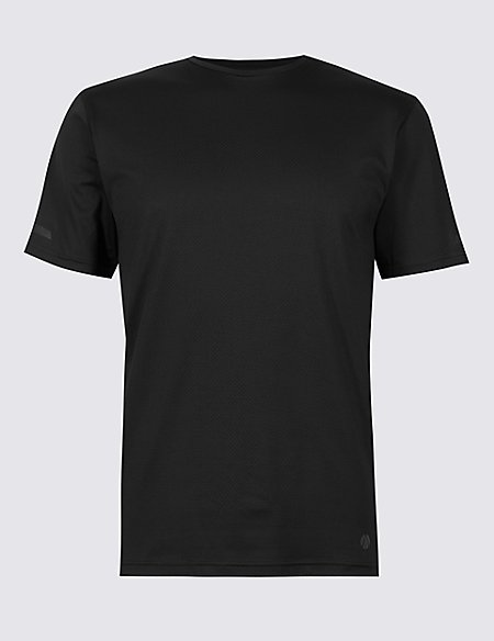 Active Textured Crew Neck T-Shirt