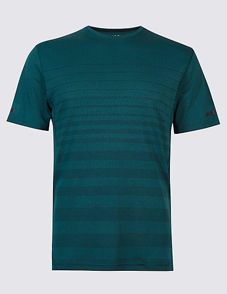 Active Textured Crew Neck T-Shirt