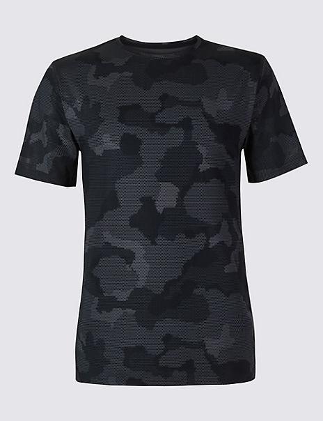 Active Printed Crew Neck T-Shirt