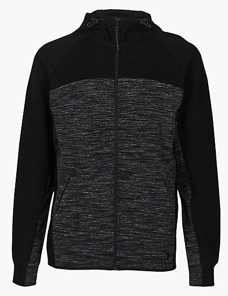 Active Cotton Rich Hooded Neck Sweatshirt