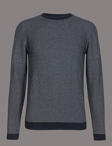 Supima® Cotton Textured Slim Fit Jumper