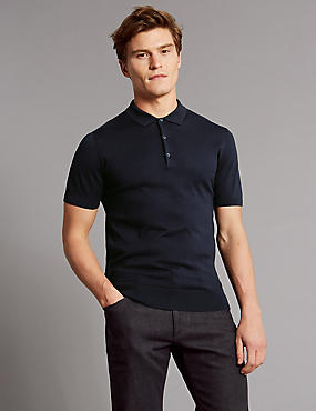 Silk Rich Knitted Slim Fit Polo