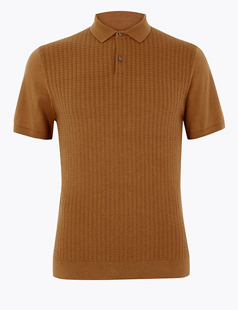 Supima® Cotton Textured Polo