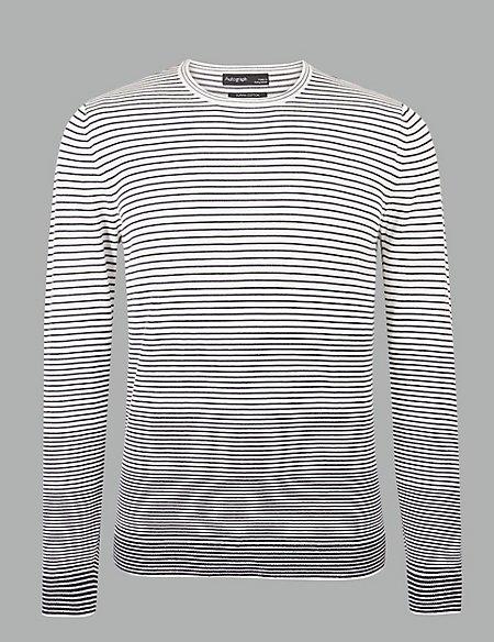 Supima® Cotton Striped Gradient Jumper