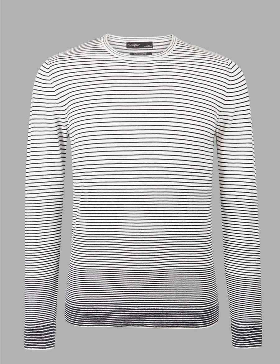 28c1d96a42 Supima® Cotton Striped Gradient Jumper